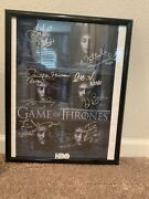 Game Of Thrones 2016 Sdcc Signed Poster