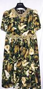 Dolce And Gabbana - Ladies Pears Print Dress - Size Uk 10 Italy 42