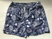 Black And Brown Menand039s Luxury Blue Swimsuit Bathing Suit Size Medium Discontinued