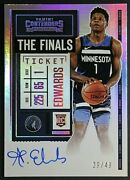 Anthony Edwards Variation Panini Contenders Rookie Finals Ticket Auto /49 💎🔥💎