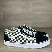 Off The Wall Menand039s Skate Shoes Black White Checkered Size 12 Sneaker
