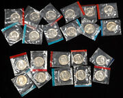 22 Us Uncirculated P And D Quarters 25 Cent Coins 1971-1981 In Mint Cello