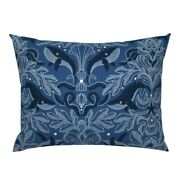 Nautical Damask Pattern Whales Vintage Stars Nature Pillow Sham By Spoonflower