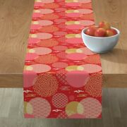 Table Runner Chinese Fireworks Red Asian China Festival Oriental Cotton Sateen