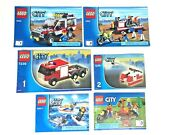 Lot 6 Lego City Instruction Booklets 4433, 7239, 60011, 60134 Booklets Only