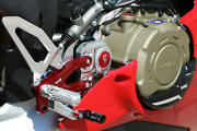 Adjustable Rearsets Cnc Racing Silver-red Pramac Limited Edt Ducati Panigale V4