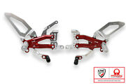 Adjustable Rearsets Cnc Racing Silver-red Pramac Limited Edt Ducati Panigale V4r