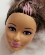 Barbie Doll Head Only For Replacement Or Ooak Sisters In A Pony Tale Skipper Htf