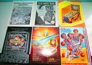 5 Vintage Flyers For Pinball Machines Plus 1 Pinball Quarterly Sold As Group