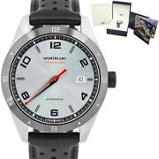 Timewalker Automatic Stainless Steel 116058 Leather 41mm Silver Watch