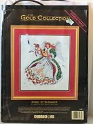 Dimensions Gold Collection Angel Of Elegance Christmas Counted Cross Stitch Kit