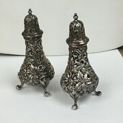 Jenkins And Jenkins Amp Baltimore Repousse Salt And Pepper Shakers