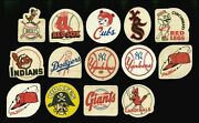 1955 Post Sugar Crisp Baseball Patches And Stickers 14 Ted Williams Endorsed