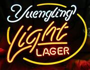 Yuengling Light Lager Neon Beer Light Sign 34x25x6 Man Cave Bar - Used