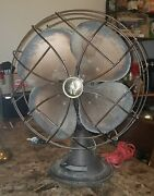 Antique Emerson Electric Variable Speed Oscillating Table Desk Fan