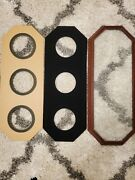 Collection 3 Plates Rose Wood Frames Octagon For 7 To 9 Plates