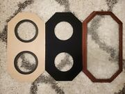 Collection 2 Plates Rose Wood Frames Octagon For 7 To 9 Plates