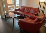 Natuzzi Leather Sofa + Chair Very Comfortable Used Local Pickup
