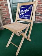 Piedmont Tobacco Sign Chair Rarecouponscigarette Advertising 2-sided Baseball