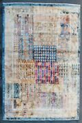 Tapis Rug Ancien Chinois Chine Soie 1980