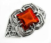 2ct Fire Garnet 925 Sterling Silver Victorian Style Ring Jewelry Sz 6 Sf15