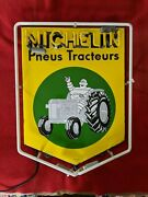 Michelin Tractor Tire Porcelain Neon Sign