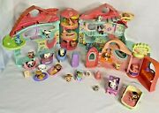 Littlest Pet Shop Biggest Toy House Playset W/ 24 Pets Some Rare + Furniture