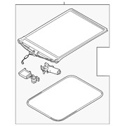 Genuine Ford Sunroof Cover Dt1z-17519a02-bb