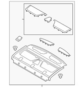Genuine Ford Package Tray Fp5z-5446668-ad