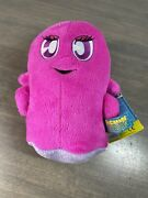 Nwt Namco Bandai Hot Pink Pinky Ghost 7andrdquo Plush Pac-man And The Ghostly Adventures