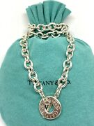"""Rare And Co. Sterling Silver 1837 Rolo Chain Toggle Necklace 17"""" Pouch"""