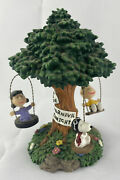 Westland Peanuts Snoopy Tree Swing Music Box Works 8269 Lucy Snoopy Carnival Ge8