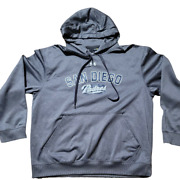 Under Armour San Diego Padres Mlb Graphic Logo Hoodie Mens Size Xl Loose Gray