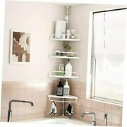 Shower Caddy, Shower Corner Caddy Tension Pole With 4 Tier Constant Shower