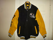 Nwt Pittsburgh Steelers Nfl Menand039s G-iii Heavyweight Zipper Front Suede Jacket L