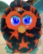 Interactive Furby Boom Teal And Orange Stars - 2012 Hasbro-works Perfectly