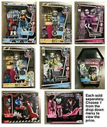Monster High Playsets Dolls Locker Frankie Abbey 3 Outfits Lagoona Mad Science