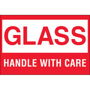 2 X 3 Glass - Handle With Care Labels 5000 Pcs