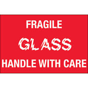 2 X 3 Fragile - Glass - Handle With Care Labels 5000 Pcs