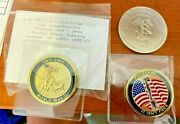 New - 3 Iwo Jima Marines Challenge Coin Collectibles Mystic Stamp