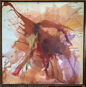 Mystery American Mid Century Mod Modern Abstract Composition Manner Paul Jenkins