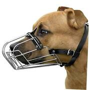Pitbull Dog Muzzle Wire Basket Amstaff Pit Bull Metal Mask 1 Count Pack Of 1
