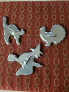 Witch Nand039 Cat Vintage Cookie Cutters Aluminum And A Turkey