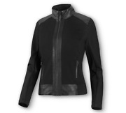 Harley-davidson Womens Leather And Compression Knit Black Casual Jacket 98403-20vw
