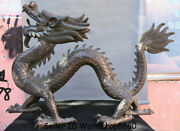 34 Huge Old Chinese Bronze Feng Shui Zodiac Year Animal Dragon Lucky Statue