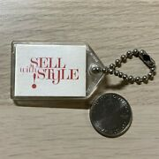 1960's Coca Cola Coke Sell With Style Salesman's Promo Keychain Key Ring 42323