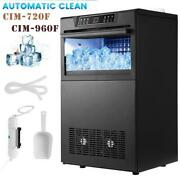 Commercial Ice Maker Stainless Steel Undercounter Ice Machine W/ Water Filter Us
