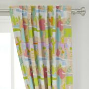Mod Desert Houses Homes Cactus Cacti 50 Wide Curtain Panel By Roostery