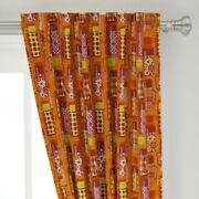 Thermos Coffee Hot Chocolate Retro 1970 50 Wide Curtain Panel By Roostery