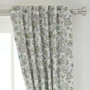 Map Maps Illustrated Maps Adventure Nautical 50 Wide Curtain Panel By Roostery